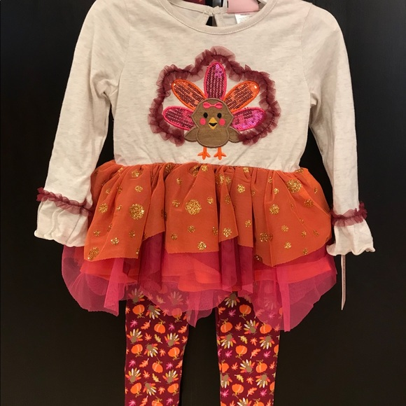 Little Lass Other - Girls Thanksgiving outfit 3T NWT